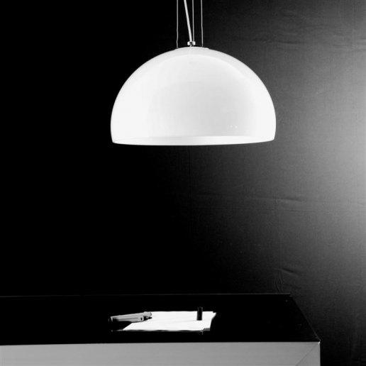 Immagine per Yurta bianco diam. 50 - 1 luce - Lampadario moderno - OLUX ILLUMINAZIONE