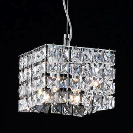 Immagine per Brat quadro 16X16 cm cristalli trasparenti - Lampadario, Sospensione - OLUX ILLUMINAZIONE