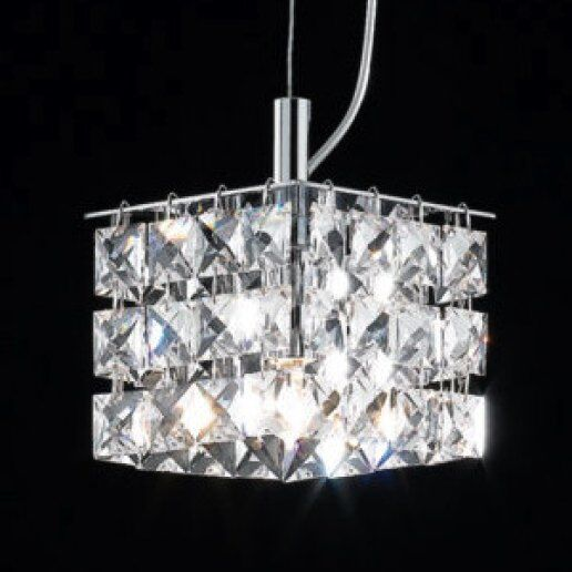 Immagine per Brat quadro 10X10 cm cristalli trasparenti - Lampadario, Sospensione - OLUX ILLUMINAZIONE
