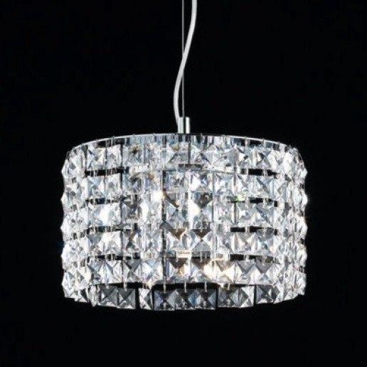 Immagine per Brat tondo diam. 24 cm cristalli trasparenti - Lampadario, Sospensione - OLUX ILLUMINAZIONE