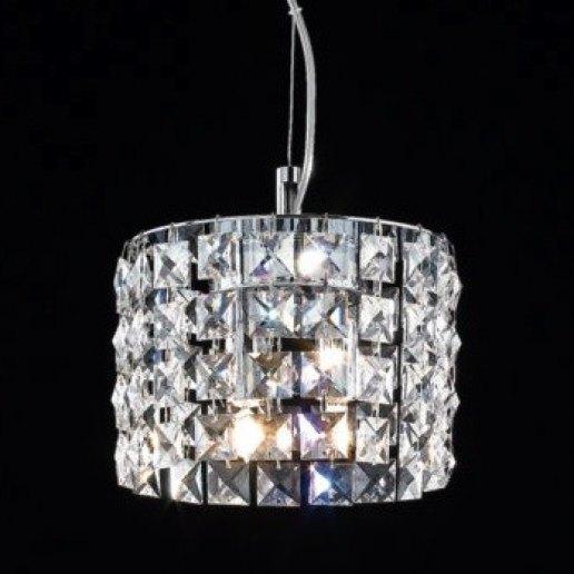 Immagine per Brat tondo diam. 15 cm cristalli trasparenti - Lampadario, Sospensione - OLUX ILLUMINAZIONE