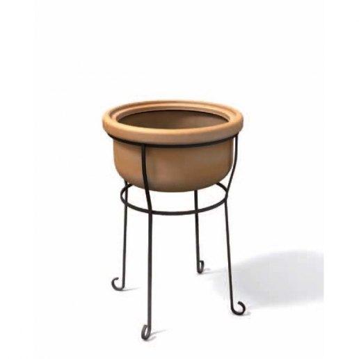 Vesuviano liscio 45 treppiedi vaso per esterno design for Kloris vasi