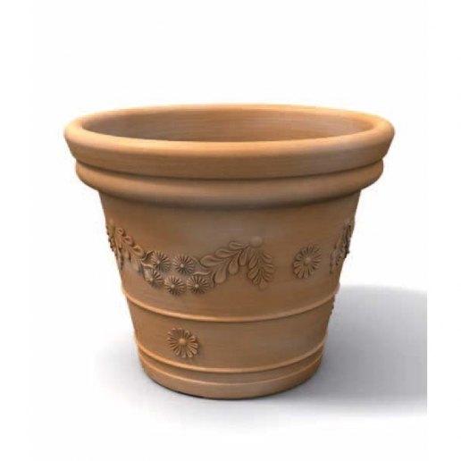 Immagine per Tondo festonato 55 - Vaso per esterno design - KLORIS VASI D'ARREDO