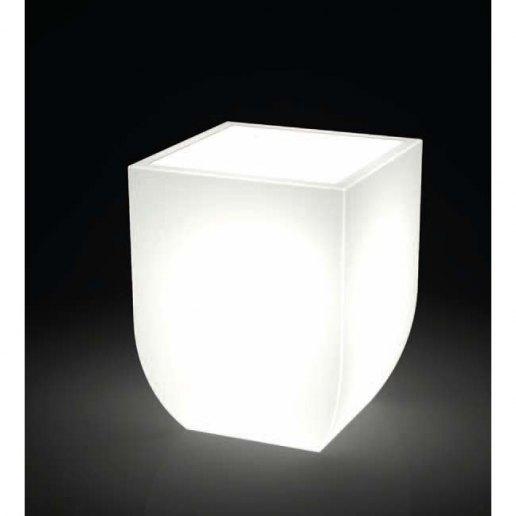 Immagine per Kit 'Salentino liscio 60' + 'kit illuminazione' - Vaso per esterno design - KLORIS VASI D'ARREDO