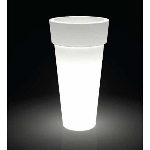 Immagine per Kit 'Messapico liscio 70' + 'kit illuminazione' - Vaso per esterno design - KLORIS VASI D'ARREDO