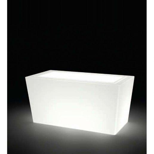 Immagine per Kit 'Ionico liscio 80' + 'kit illuminazione' - Vaso per esterno design - KLORIS VASI D'ARREDO