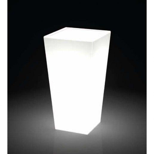 Immagine per Kit 'Egizio liscio 55' + 'kit illuminazione' - Vaso per esterno design - KLORIS VASI D'ARREDO