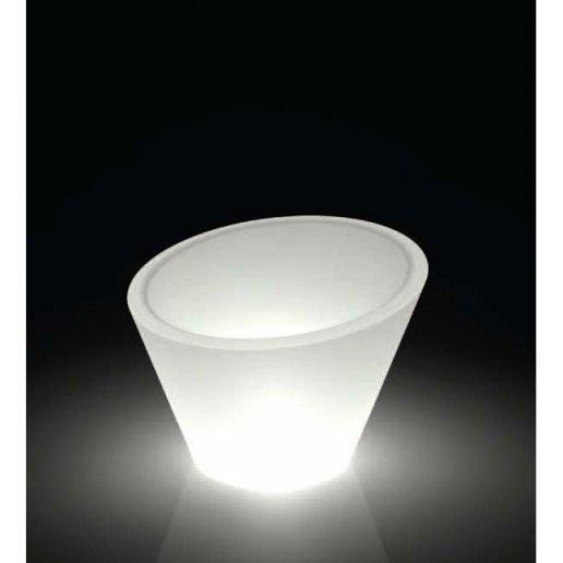 Immagine per Kit 'Dorico liscio 70' + 'kit illuminazione' - Vaso per esterno design - KLORIS VASI D'ARREDO
