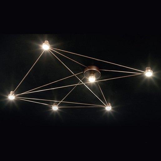 Immagine per WAGONSTAR - plafoniera da soffitto - SILLUX