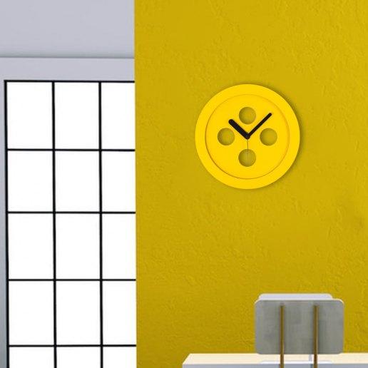 Immagine per Orologio da parete in legno colorato - Attaccabottone - OWATCH