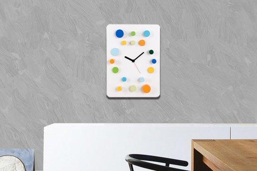 Immagine per Orologio da parete in legno colorato - Pitto - OWATCH