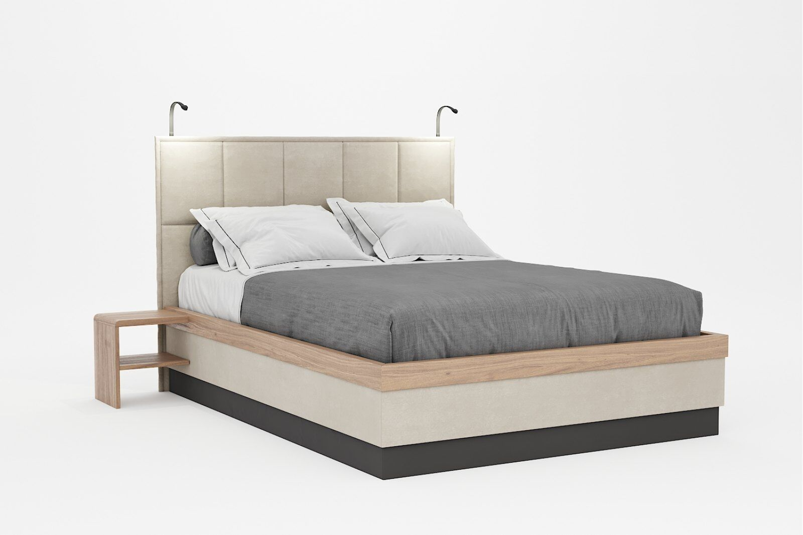 Tivoli Double Bed with Side Tables / 1