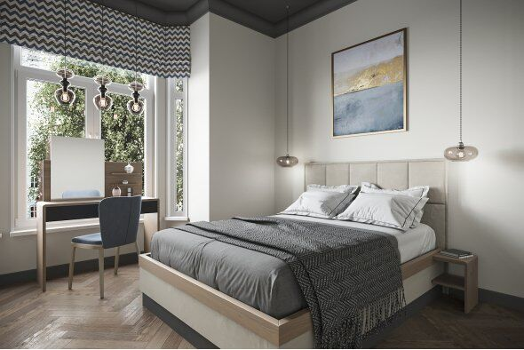 Tivoli King Bed with Side Tables