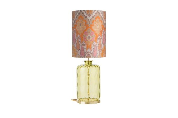 Pillar Brocade Table Lamp