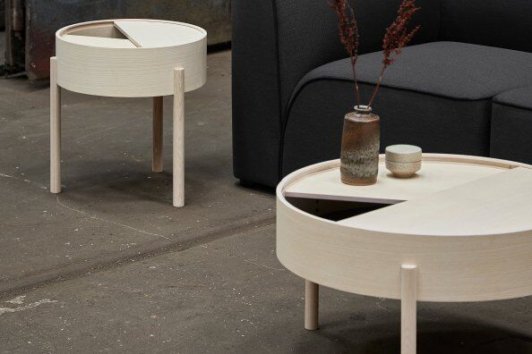 Arc Coffee Table With Storage 66 cm