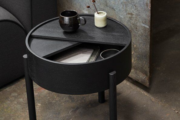 Arc Side Table With Storage 42 cm