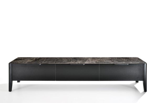 Alba TV Media Unit, Marble-effect Ceramic Top