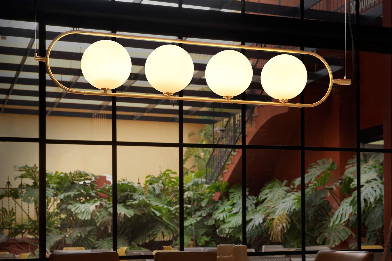 Cranmer Ceiling Light, 4 spheres / 1