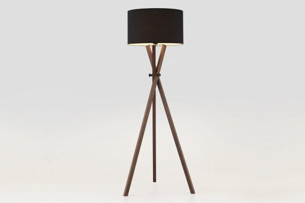 Crib Wood Tripod Floor Lamp