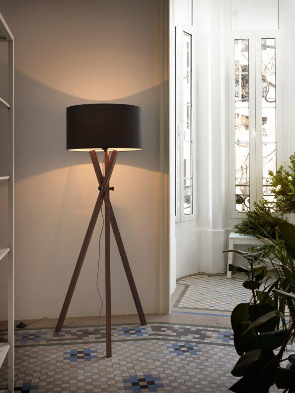 Crib Wood Tripod Floor Lamp / 2