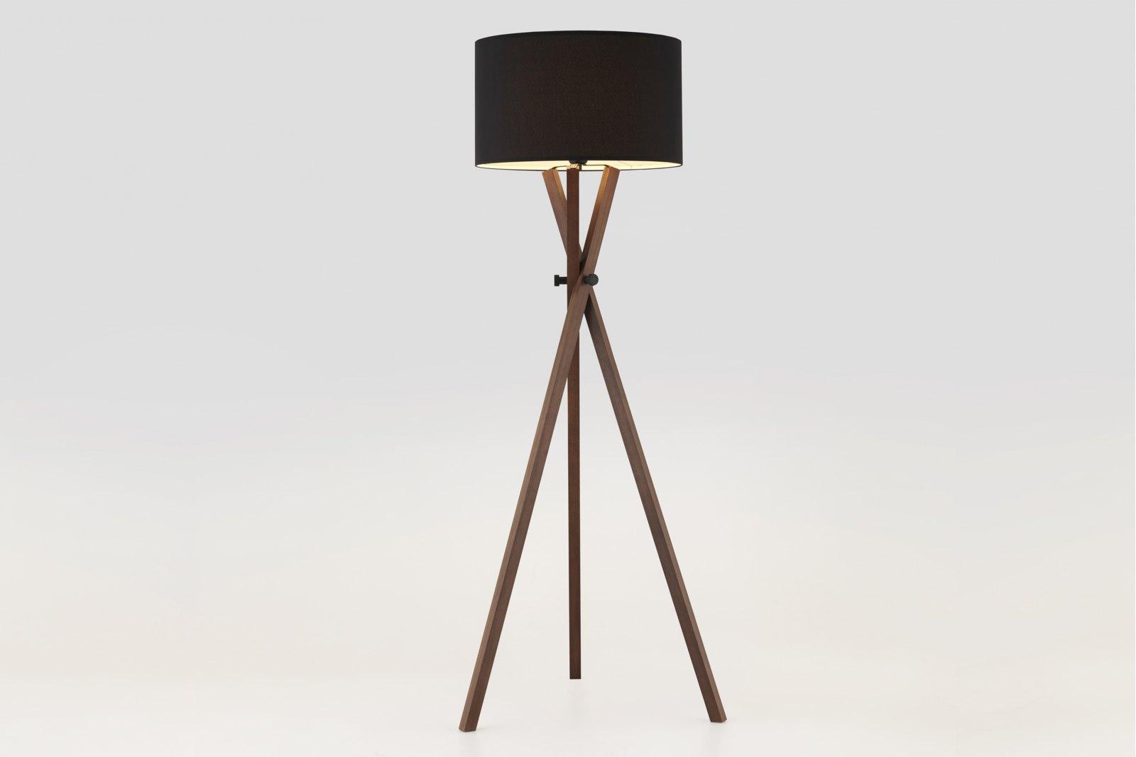 Crib Wood Tripod Floor Lamp / 1