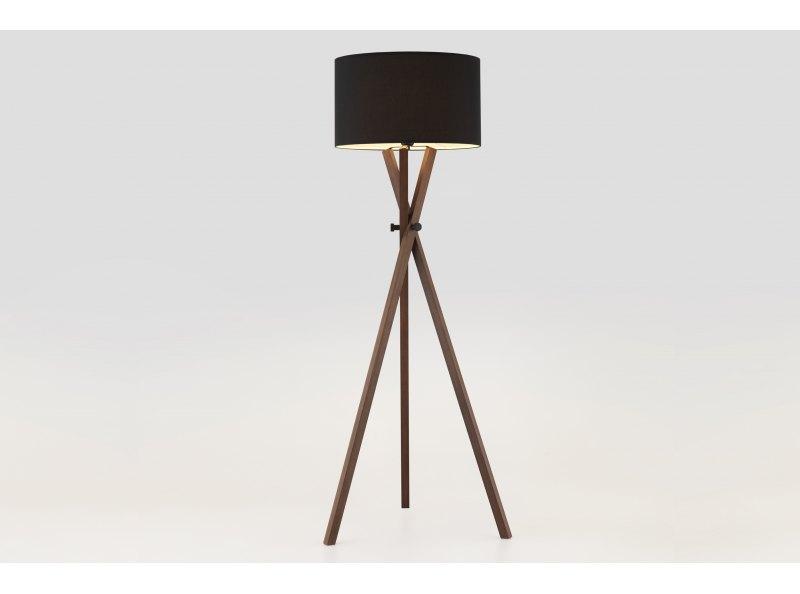 Crib Wood Tripod Floor Lamp