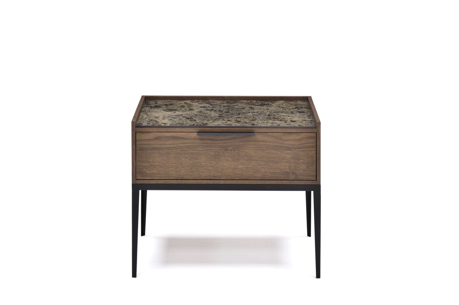 Moli Marble-effect Top Bedside Table 50cm  / 1