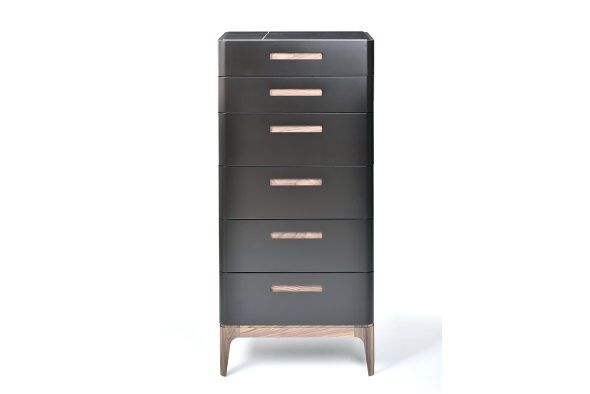 Eclipse 6-drawer Tallboy, Marble-effect Ceramic Top