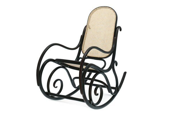 Robin Cane Bentwood Rocking Chair / 2