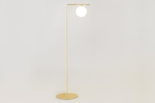 Sumo Globe Floor Lamp Brass