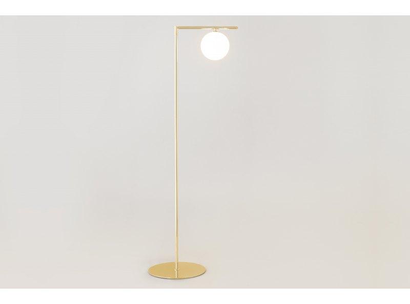 Sumo Globe Floor Lamp Brass