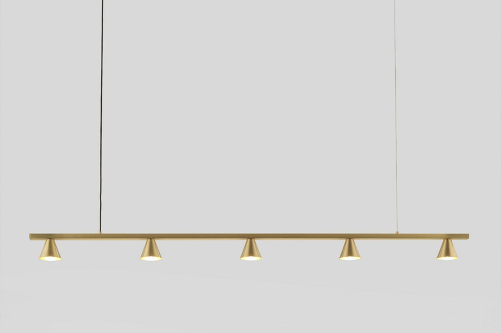 Anders Five Light Pendant Lamp, Gold / 1