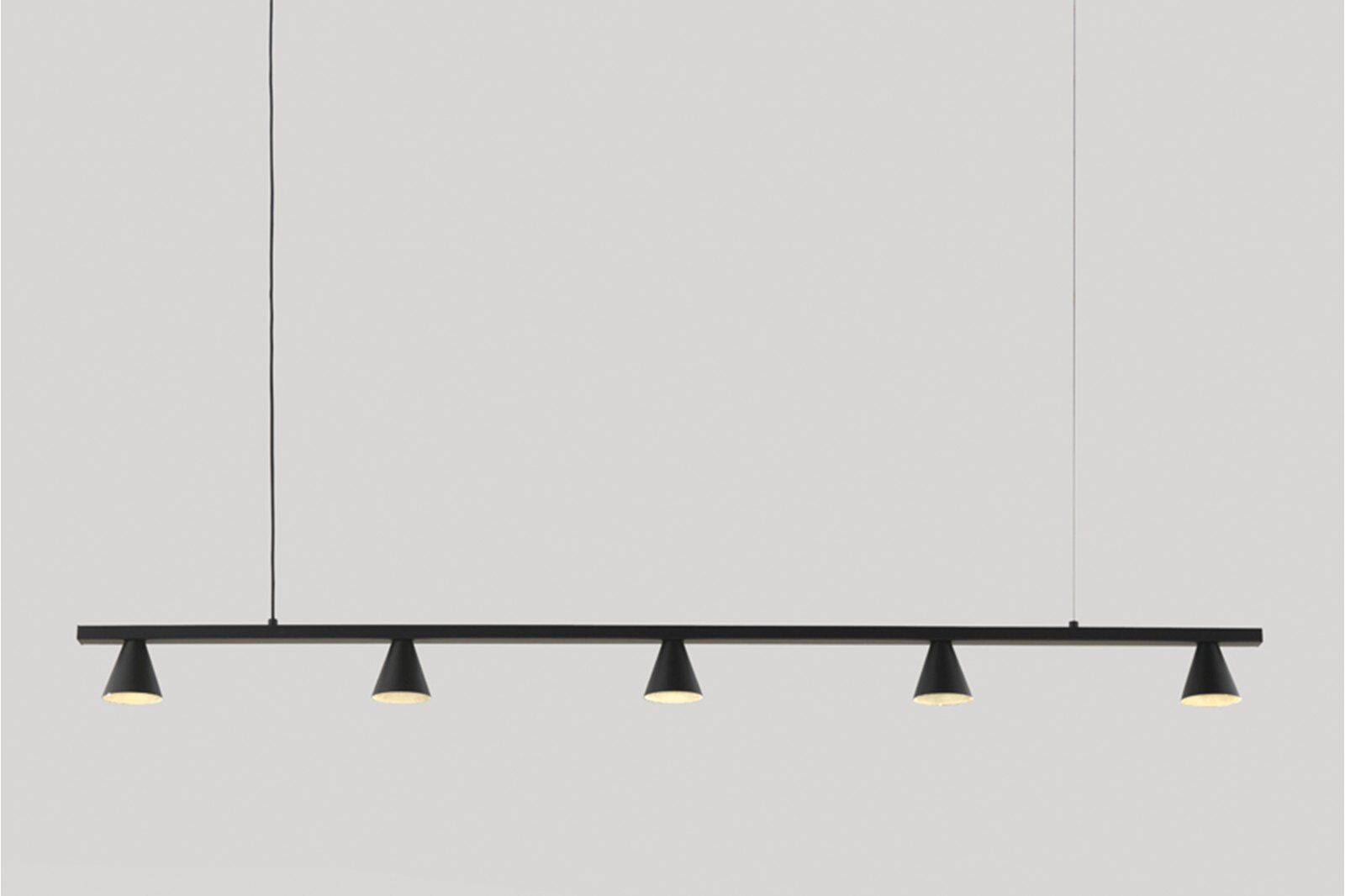 Anders Five Light Pendant Lamp, Black / 1