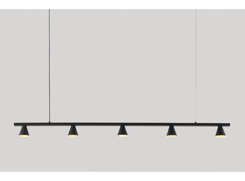 Anders Five Light Pendant Lamp, Black