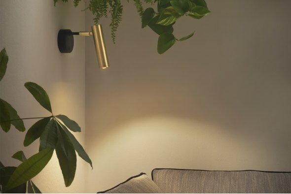 Deco Gold Spotlight Wall Lamp