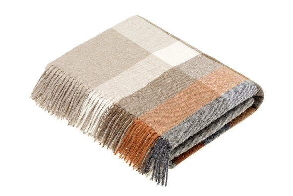 Harley Stripe Saffron Lambswool Throw