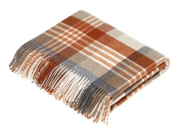 Melbourne Saffron Lambswool Throw