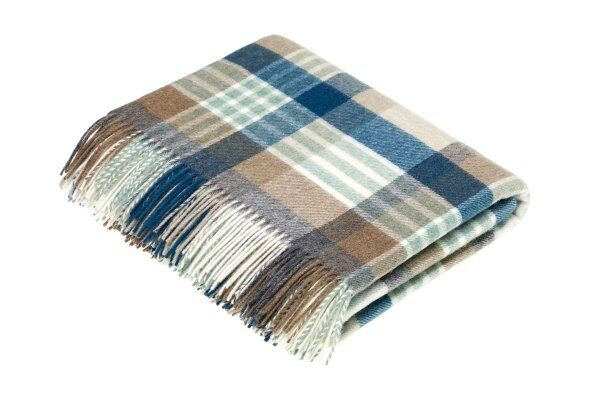 Harley Stripe Eucalyptus Lambswool Throw