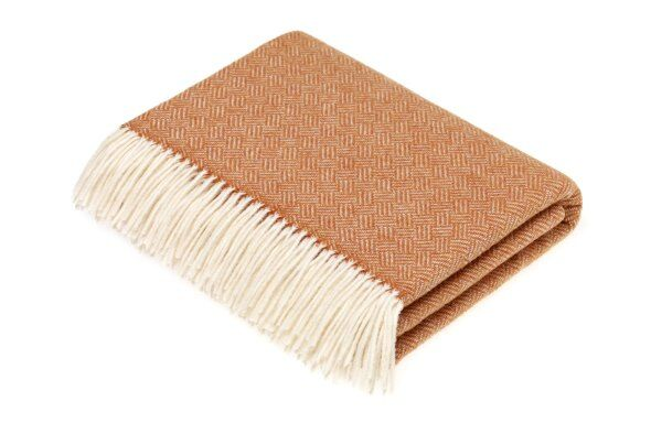 Parquet Saffron Lambswool Throw
