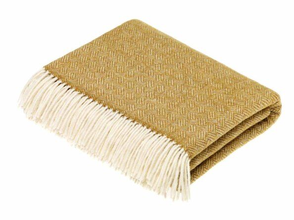 Parquet Gold Lambswool Throw