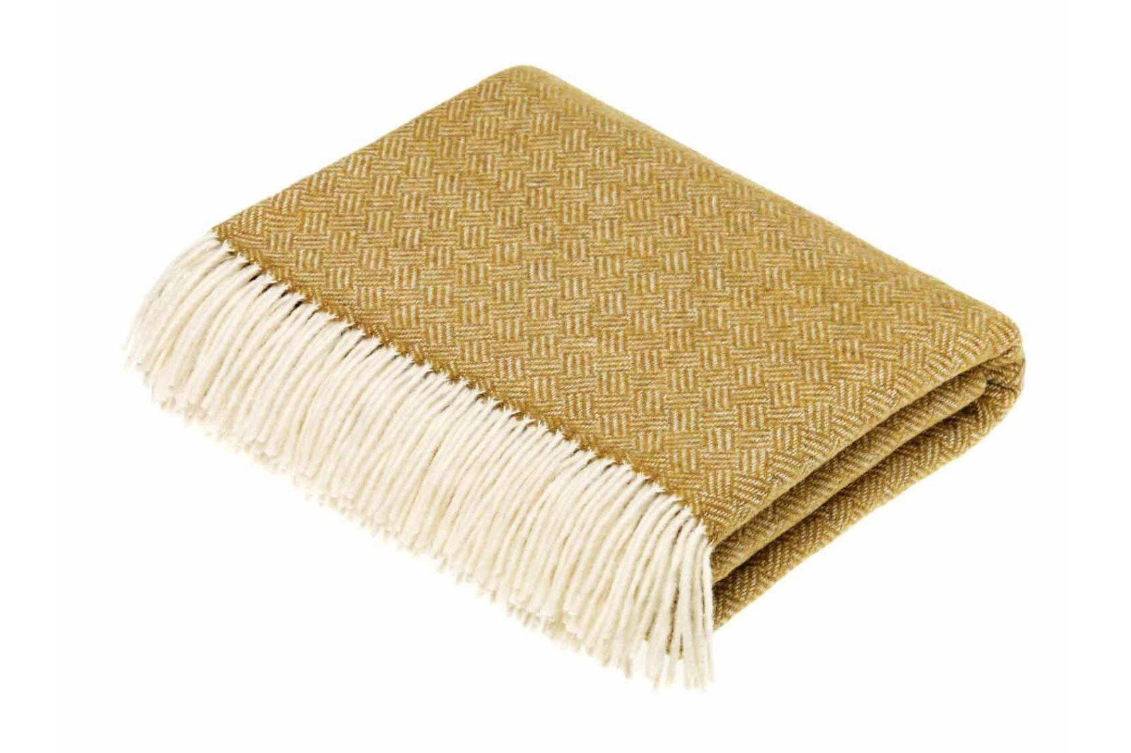 Parquet Gold Lambswool Throw / 1