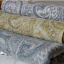 Bayswater Paisley Slate Lambswool Throw / 2 Preview