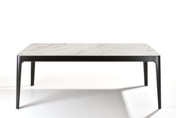 Quatro Marble-Effect Ceramic Top Dining Table 200cm