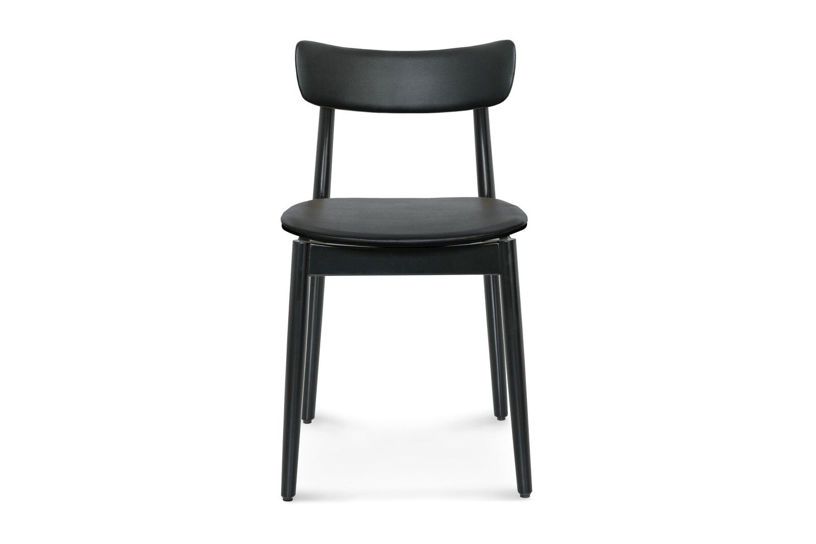 Nopp Dining Chair, Leather Back & Seat / 1
