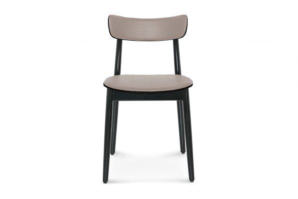 Nopp Dining Chair, Leather Back & Seat
