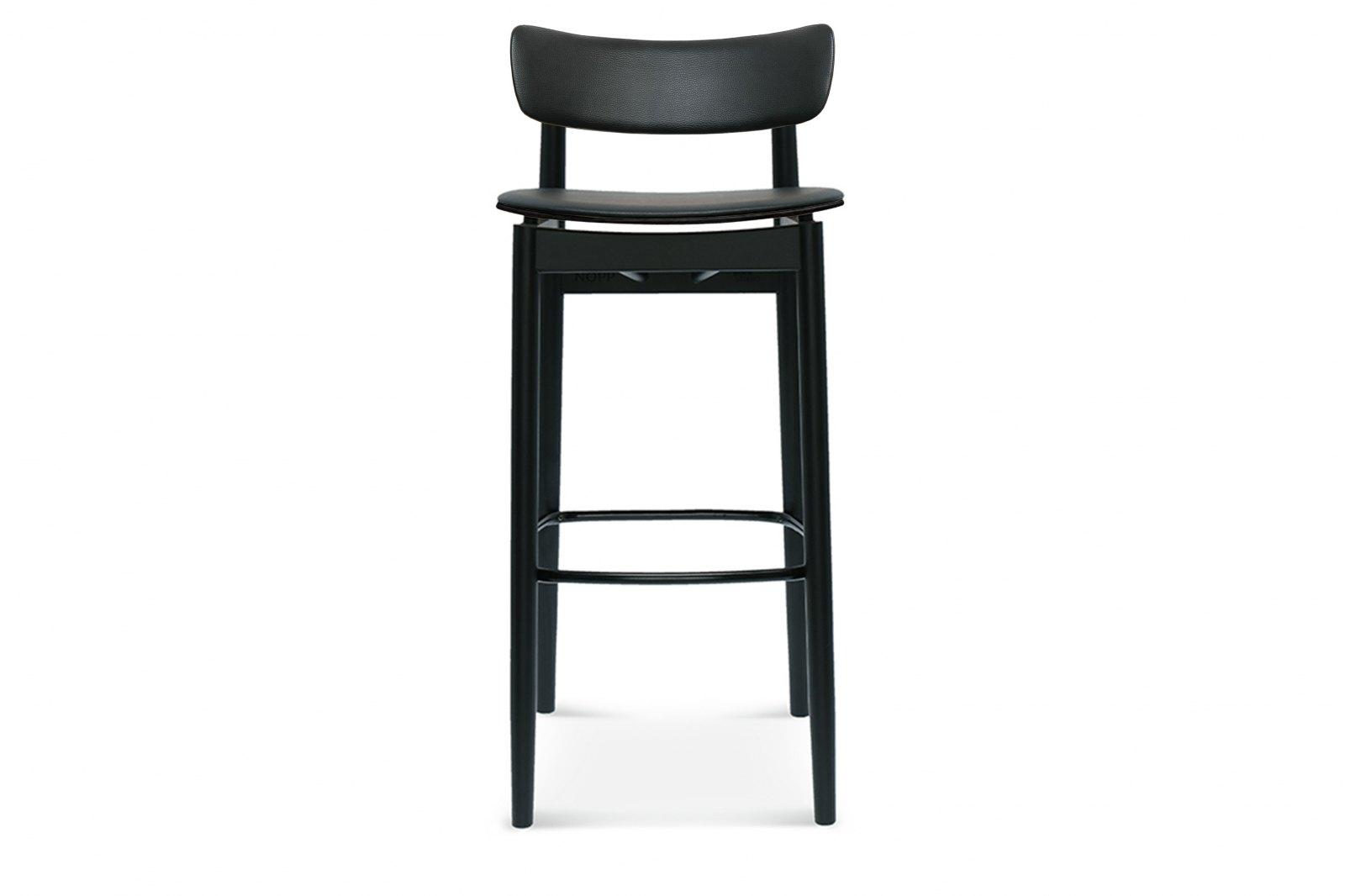 Nopp Barstool, Leather Back & Seat / 1