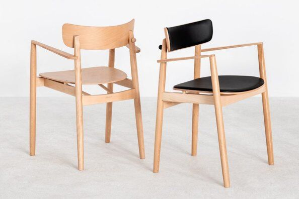 Nopp Leather Back & Seat Armchair / 2