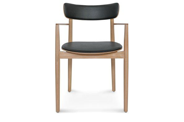 Nopp Leather Back & Seat Armchair