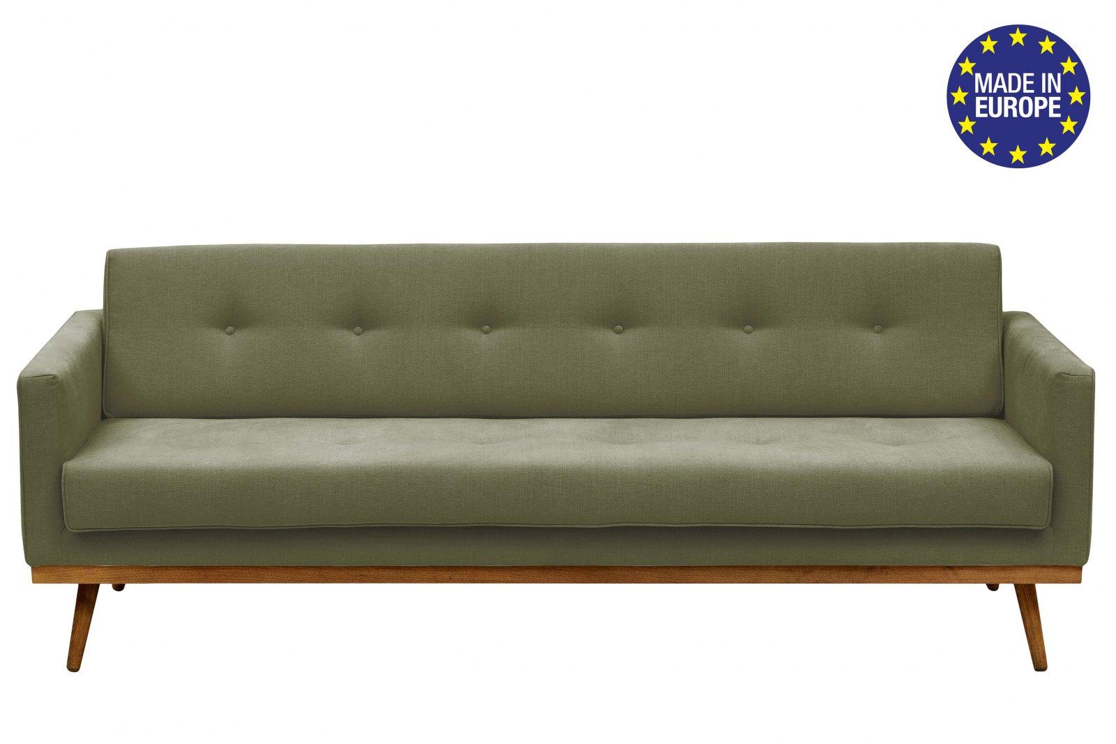 Hugo 3-Seater Linen Sofa / 1