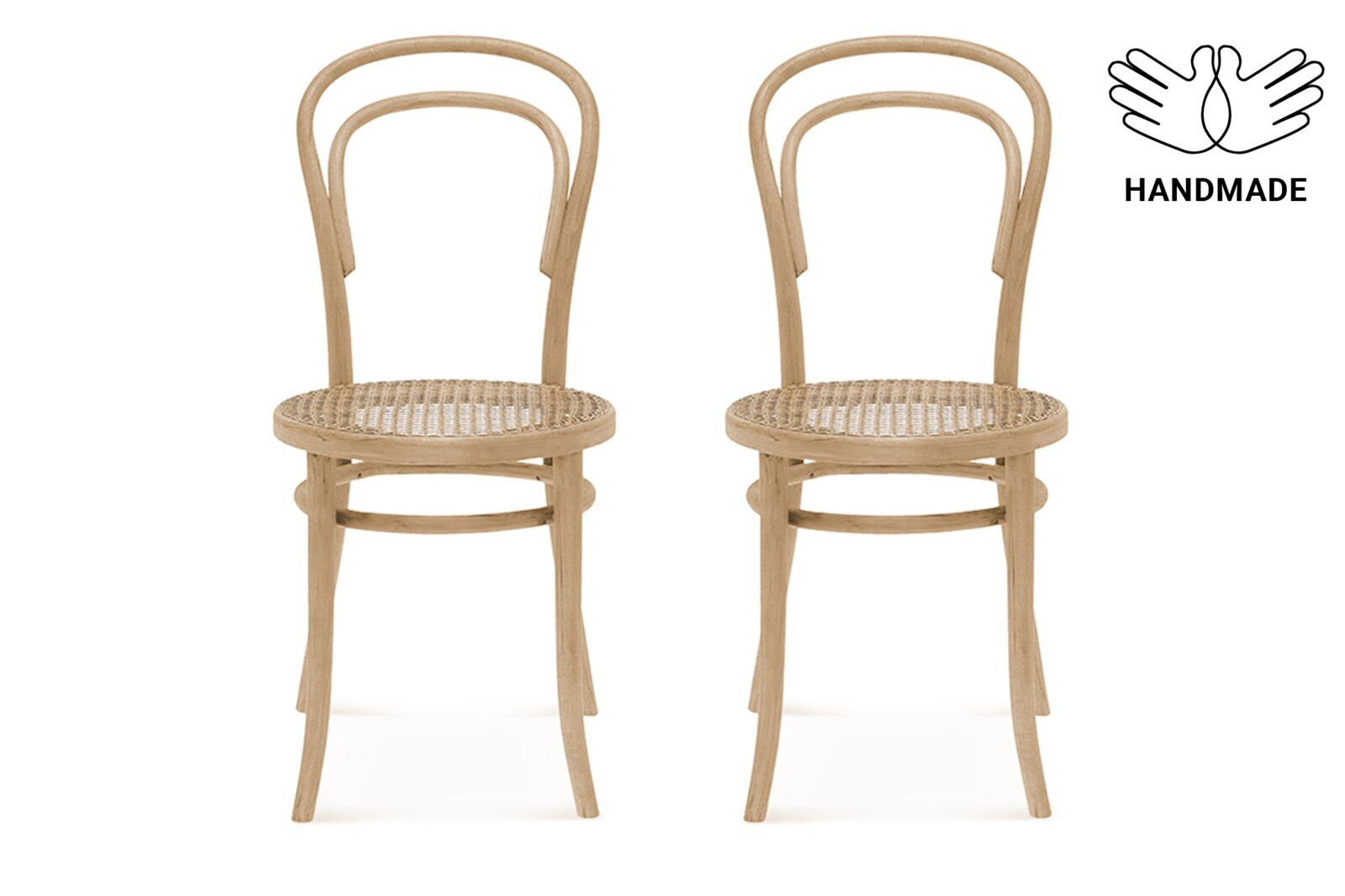 Wallace Cane Seat Dining Chair, 2PCs / 1